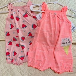 Carter's Sunsuits- Set of 2 Size 6M NWT